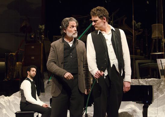 Or Matias, Chris Sarandon and Gabriel Ebert. Photo by Kyle Froman.