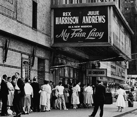 MY FAIR LADY original Broadway production marquee