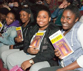 Students at matinee of THE KING AND I.