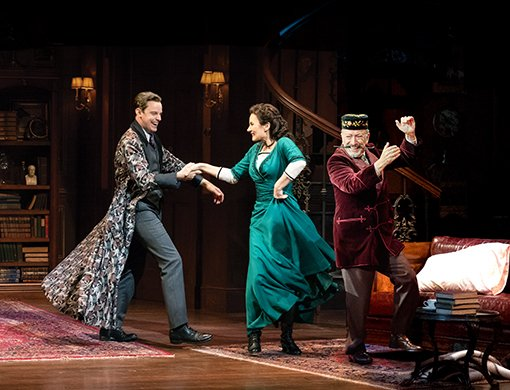 Harry Hadden-Paton, Laura Benanti, Allan Corduner. Photo by Joan Marcus