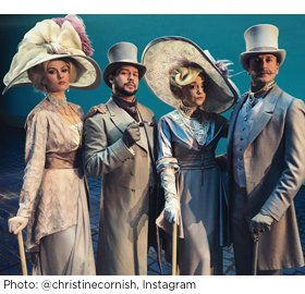 Christine Cornish Smith, Keven Quillon, Cameron Adams, and Matt Wall in MY FAIR LADY. Photo by @christinecornish, Instagram.