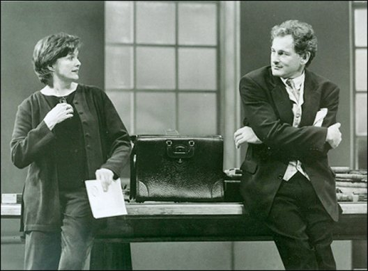 Blair Brown and Victor Garber. Photo by Joan Marcus