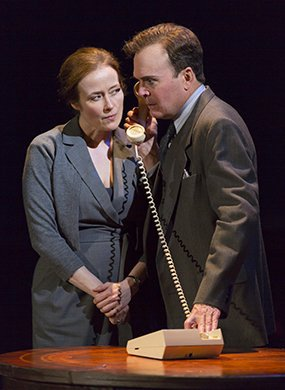 Jennifer Ehle and Jefferson Mays in OSLO. Photo by T. Charles Erickson.