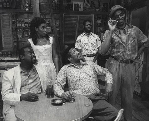 The Cast of Playboy of the West Indies. Photo by Martha Swope.