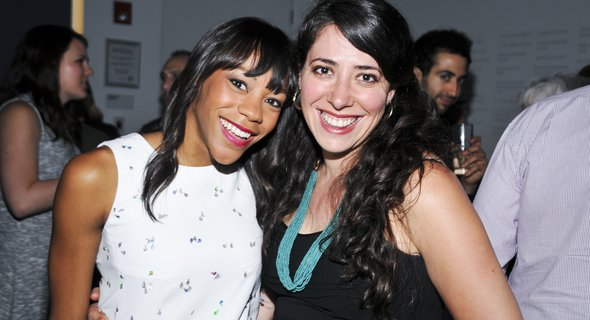 Nikki M. James and Rachel Chavkin. Photo by Jenny Anderson.
