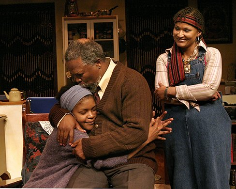 Warona Seane, John Kani, and Esmeralda Bihl. Photo by Paul Kolnik.
