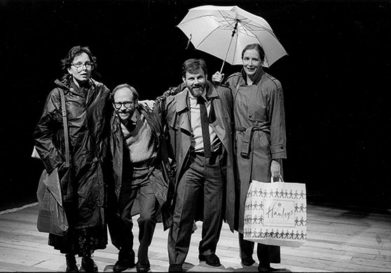 Kate Burton, Bob Balaban, Colin Stinton, and Frances Conroy. Photo by Brigitte Lacombe.