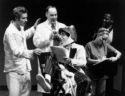 Malcom Gets, John Jellison, Chip Zien, Kristin Chenoweth, and Keith Byron Kirk. Photo by Joan Marcus.