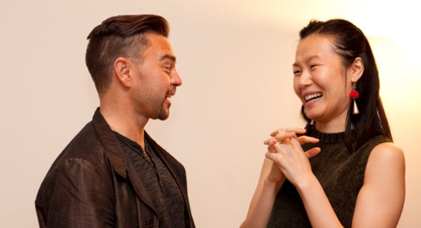 Assistant Director Jeremiah Maestas and Karoline Xu. Photo by Chasi Annexy.