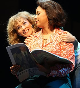 Tracie Thoms and Betsy Wolfe in FALSETTOS