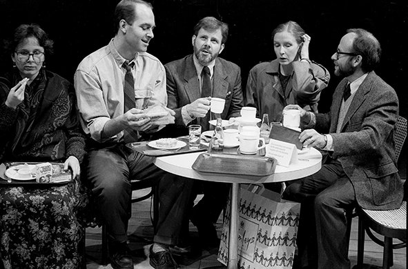 Kate Burton, John Bedford Lloyd, Bob Balaban, Colin Stinton, and Frances Conroy. Photo by Brigitte Lacombe.