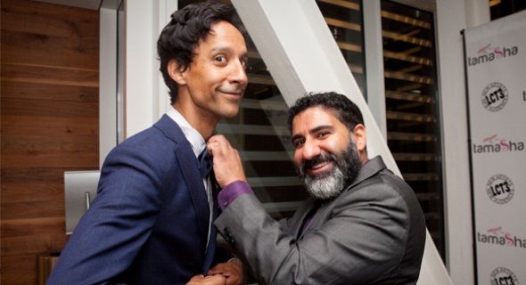 Hosts Danny Pudi and Parvesh Cheena. Photo by Chasi Annexy.