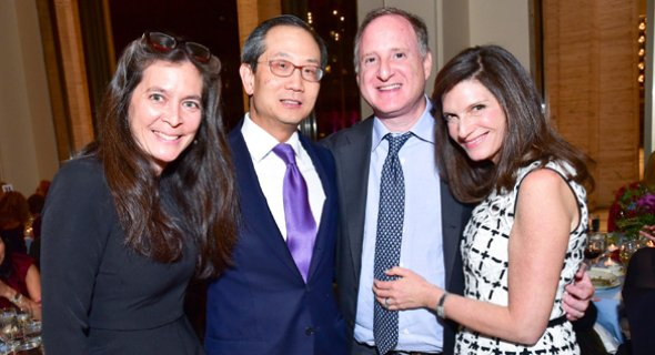 Diane Paulus, Kewsong Lee, Eric Mindich, Stacey Mindich. Photo by Patrick McMullan.