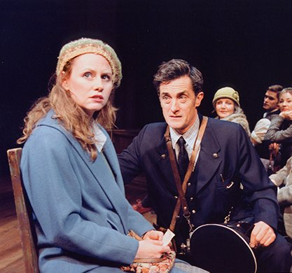 Sally Murphy and Roger Rees. Photo by Paul Kolnik