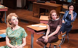 Maddie Corman, Julie Halston, and Randy Graff in THE BABYLON LINE. Photo by Jeremy Daniel.