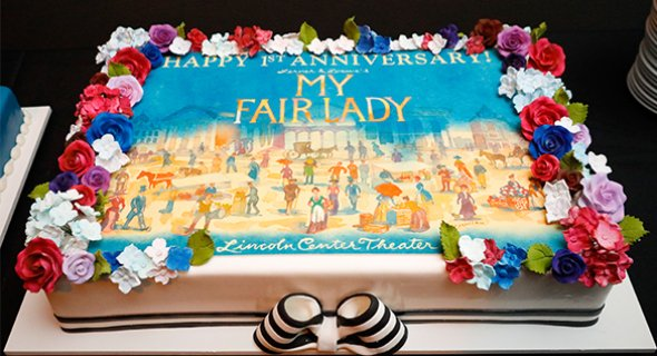 Lincoln Center Theater's 1st Anniversary cake by Carlo's Bakery. Photo by Chasi Annexy.