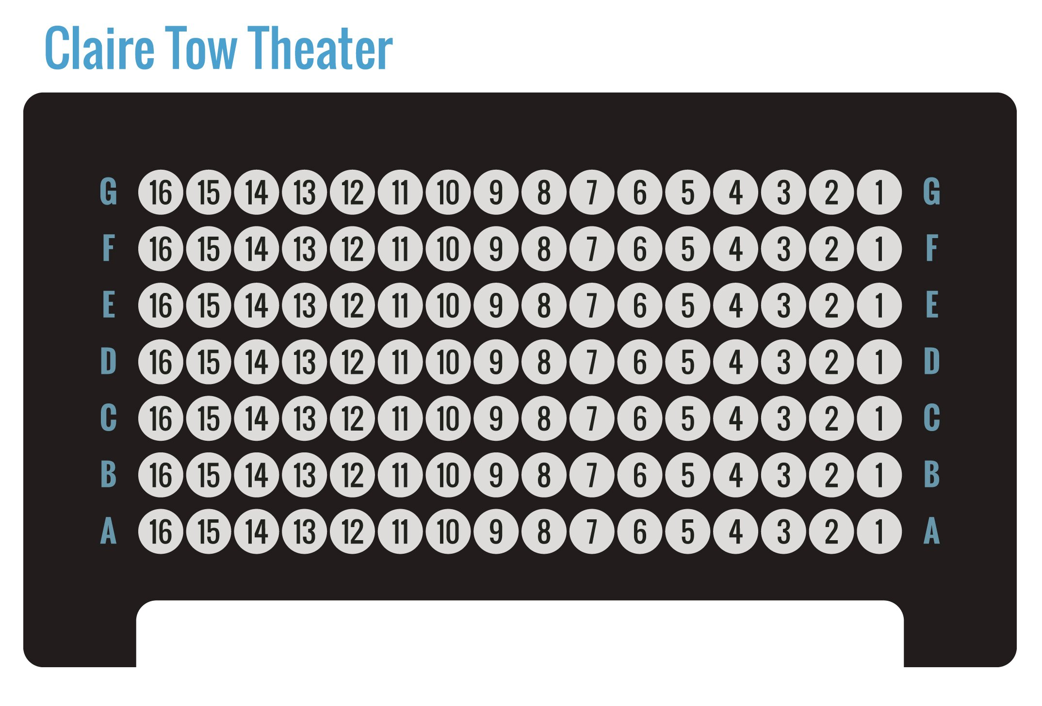 Claire Tow Theater General Seating Chart