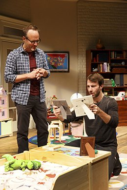 John Benjamin Hickey and Alex Hurt. Photo by Joan Marcus.