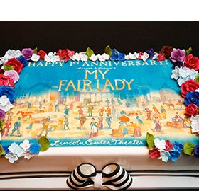 1st Anniversary MY FAIR LADY cake. Cake by Carlos Bakery. Photo by Chasi Annexy.