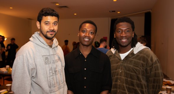 7/9 Robert Gilbert, Ato Blankson-Wood, James Udom. Photo by Jeremy Daniel.