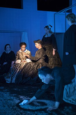 Quincy Tyler Bernstine, Karen Kandel and the cast of MARYS SEACOLE