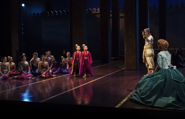Olivia Chun, Lynn Masako Cheng, Ken Watanabe, Kelli O'Hara and the company. Photo by Paul Kolnik.