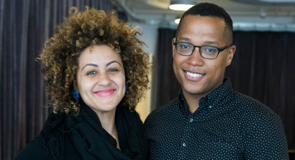 Director Lileana Blain-Cruz and Author Branden Jacobs-Jenkins. Photo by Jenny Anderson