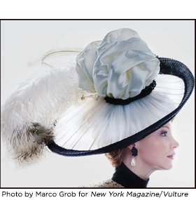 Eliza Doolittle Ascot hat. Photo by Marco Grob for New York Magazine/Vulture
