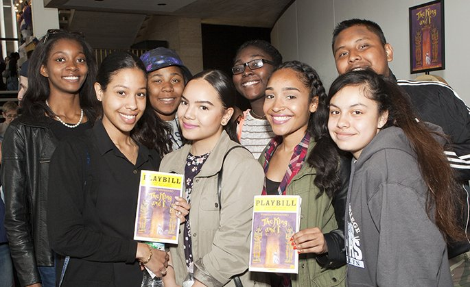 Students attend THE KING AND I.