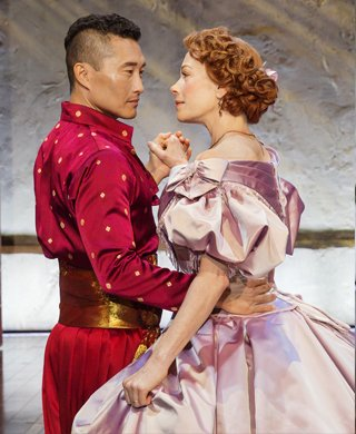 Daniel Dae Kim and Marin Mazzie. Photo by Paul Kolnik.