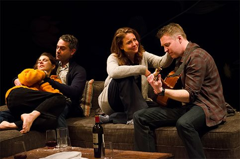 Marisa Tomei, Omar Metwally, Robin Weigert, and Brian Hutchison. Photo by Kyle Froman