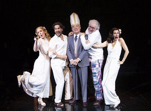 Clea Alsip, Will Swenson, Germán Jaramillo, John Larroquette, and Tina Benko. Photo by T. Charles Erickson.