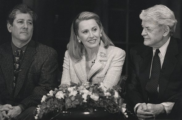 Peter Riegert, Kate Nelligan, and Hal Holbrook. Photo by Joan Marcus.