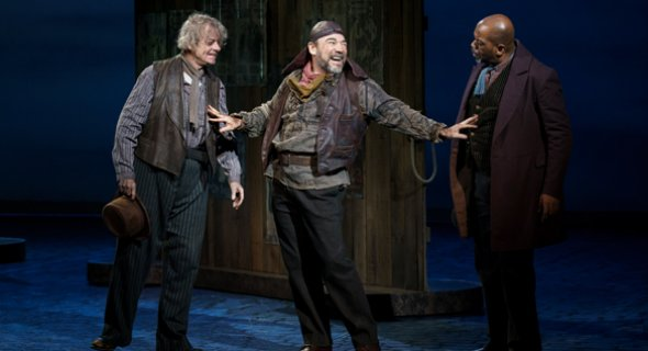 Joe Hart, Danny Burstein and Lance Roberts. Photo by Joan Marcus