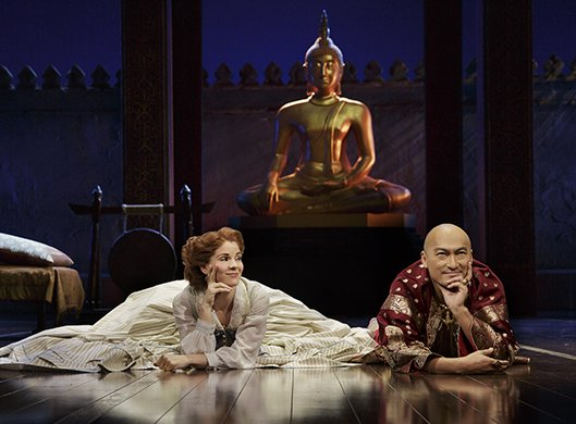 Kelli O'Hara and Ken Watanabe in THE KING AND I. Photo by Paul Kolnik.