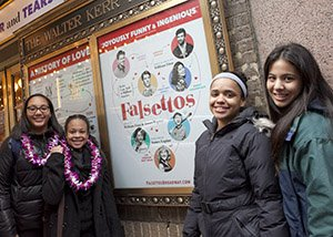 Students at matinee of FALSETTOS