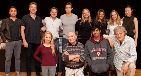 Tom Stoppard, Jack O'Brien and the cast of THE HARD PROBLEM. Photo by Chasi Annexy.