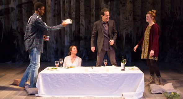 Mamoudou Athie, Diane Lane, Tony Shalhoub and Gayle Rankin. Photo by T. Charles Erickson.