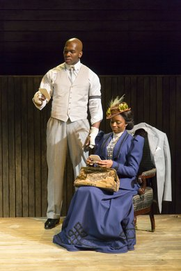 Khris Davis and Montego Glover. Photo by T. Charles Erickson.