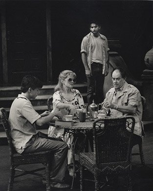 Matt Mcgrath, Judith Ivey, Laurence Luckinbill, and Dan Futterman. Photo by Ken Howard.