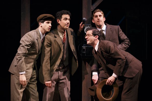 Steven Kaplan, Santino Fontana, Will Brill and Bill Army