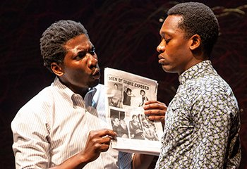 James Udom and Ato Blankson-Wood in THE ROLLING STONE. Photo by Jeremy Daniel.