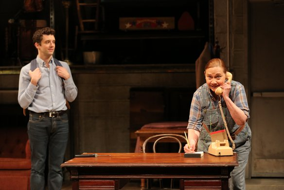 Michael Urie and Dale Soules. Photo by Joan Marcus.