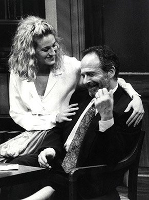 Ron Rifkin and Sarah Jessica Parker. Photo by Martha Swope.