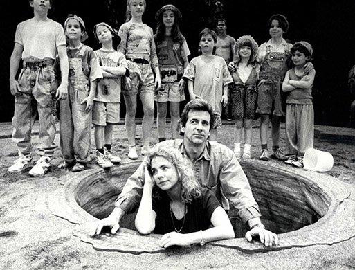 Stockard Channing, James Naughton, and Children. Photo by Martha Swope.
