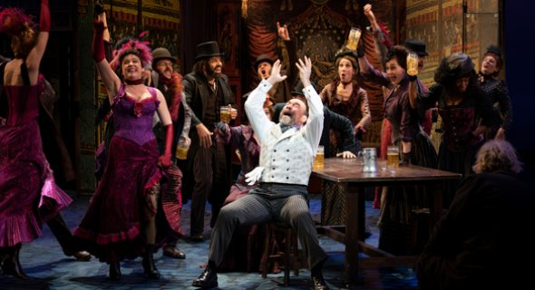 Danny Burstein and the ensemble of MY FAIR LADY. Photo by Joan Marcus