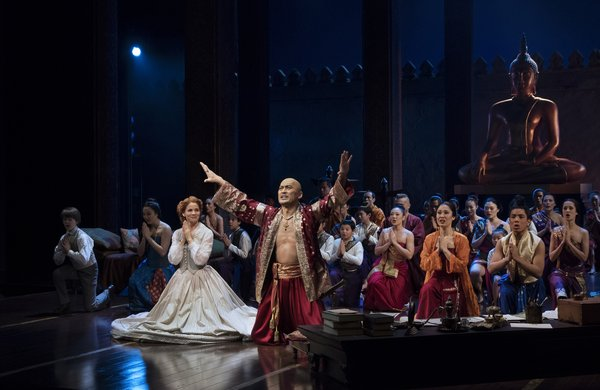 Kelli O'Hara, Ken Watanabe and the company. Photo by Paul Kolnik.