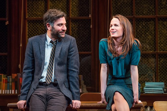 Josh Radnor and Elizabeth Reaser. Photo by Jeremy Daniel