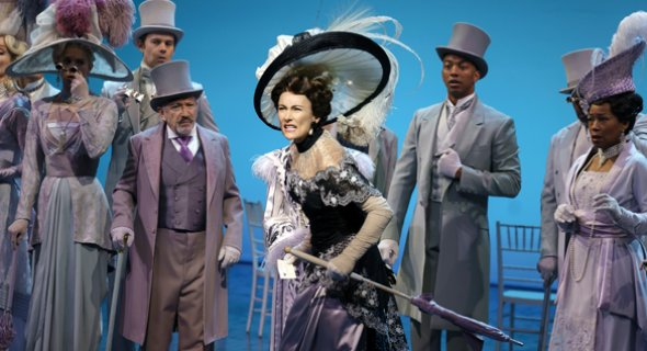 Laura Benanti and the cast of MY FAIR LADY. Photo by Joan Marcus
