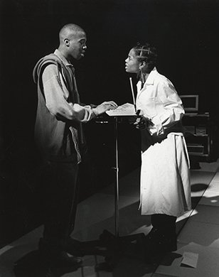 Ndehru Roberts and Kia Joy Goodwin. Photo by T. Charles Erickson.